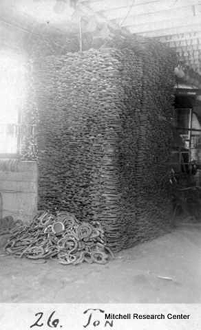 Hillsdale-Blacksmith-26 tons horseshoes.jpg