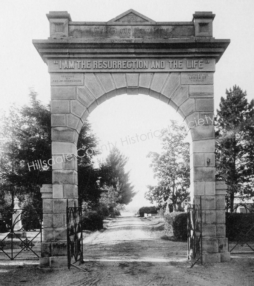 Origional Oak Grove Cemetery Arch