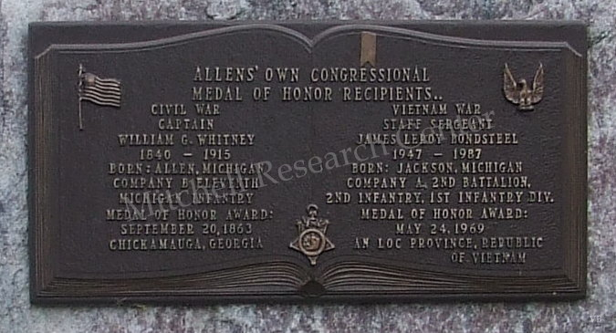 Allen's Own Congressional Metal of Honor Recipients Plaque