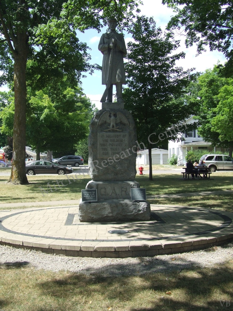 Carl Fast Park Jonesville MI G.A.R. Monument