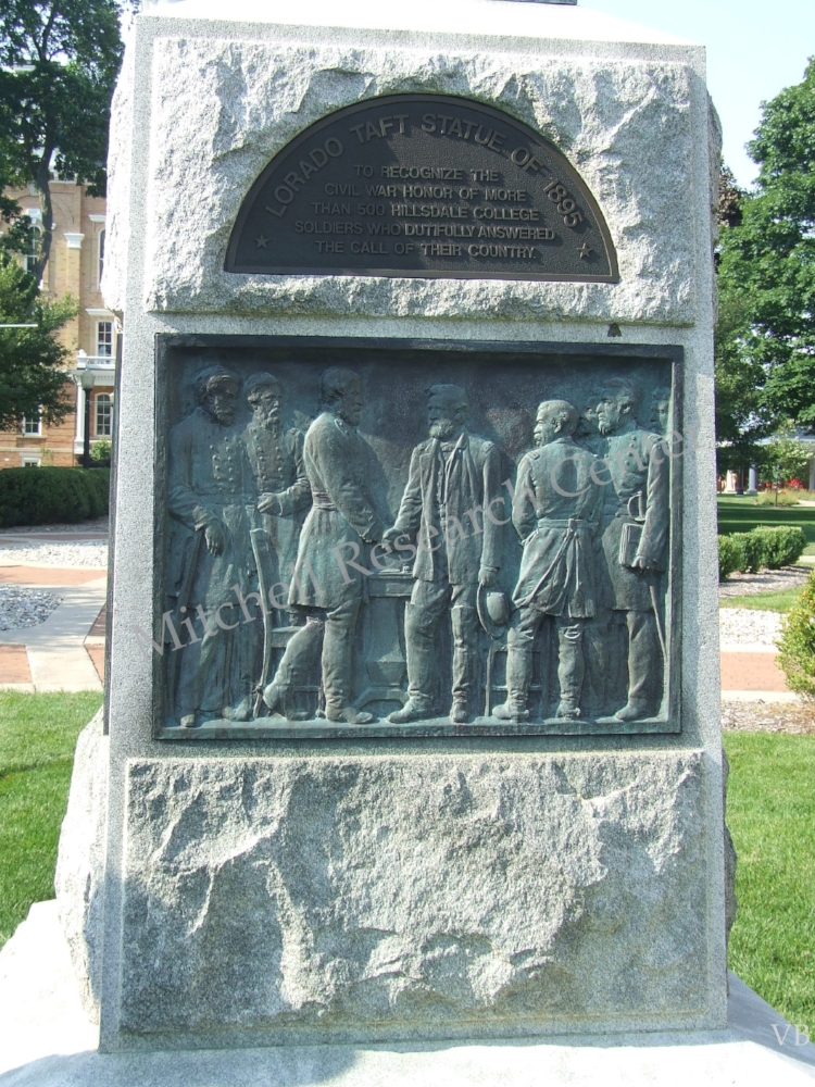 Hillsdale College Civil War Monument of 500 of Their Students