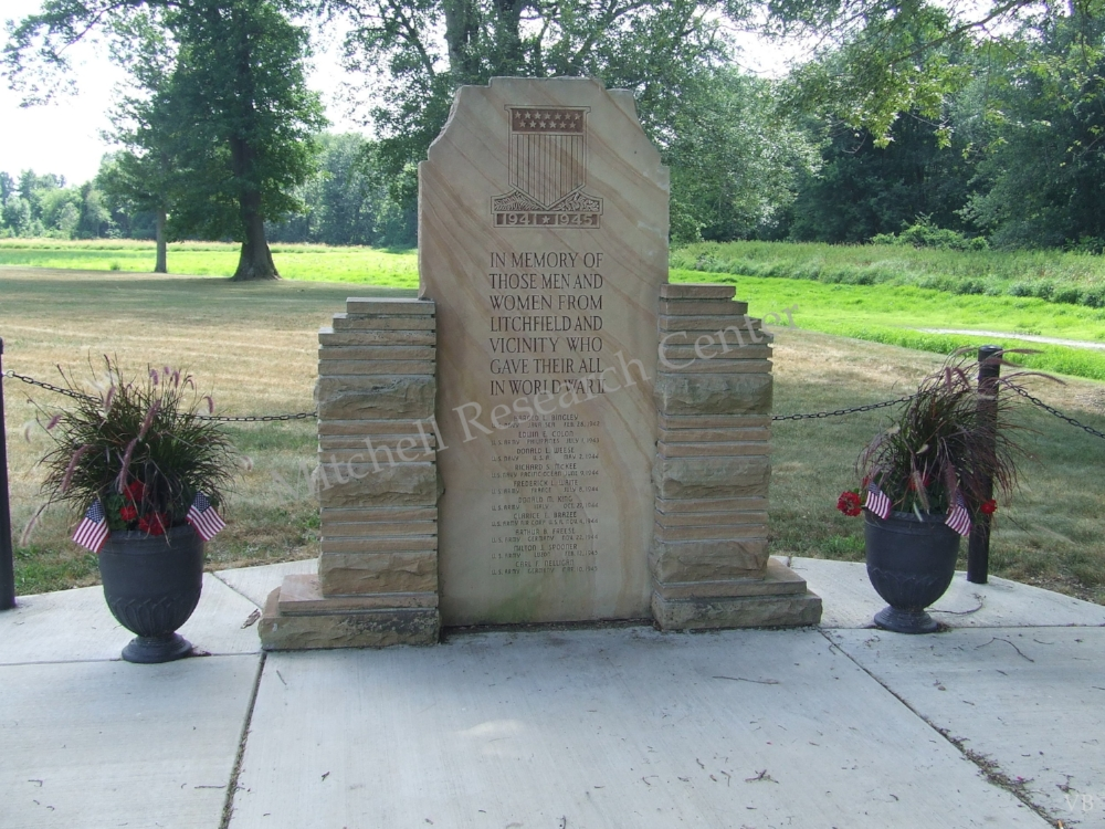 Wayside Memorial Park WWII Litchfield