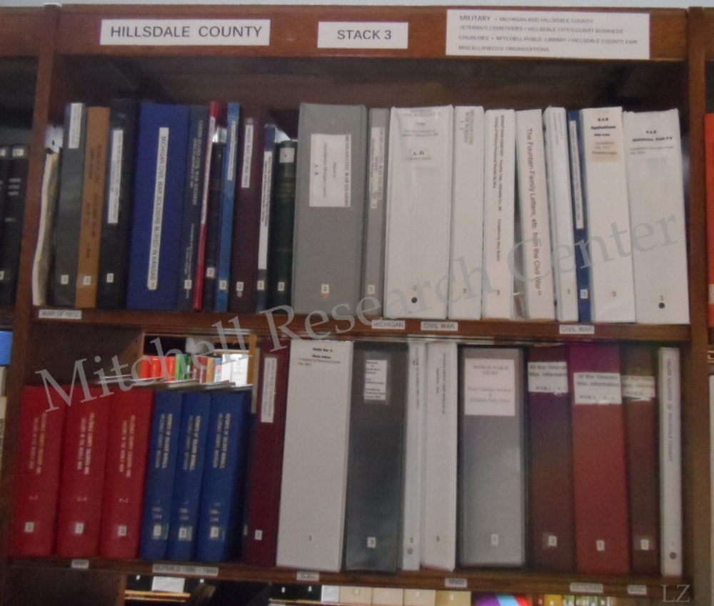 Hillsdale County Military Collection at Mitchell Research Center