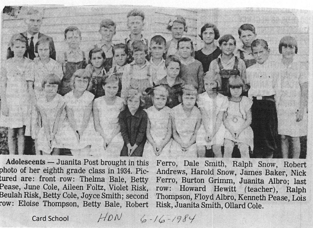 Card/Lake Wilson School on Lake Wilson Rd.
