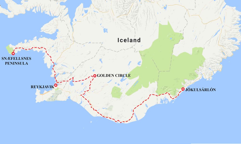 Iceland Tour Itinerary