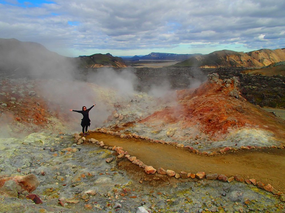 Laugavegur Guided Hike Steam Vents.JPG