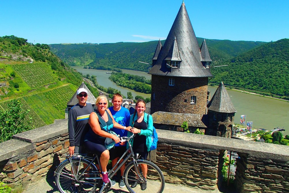 Bike along the Rhine past medieval castles, Germany's finest vineyards and small towns of half-timbered houses. Take a break at a riverside cafe, bakery, or biergarten. One of the highlights is spending a night in a beautifully restored medieval castle perched on a hill overlooking the river! This trip is the ultimate combination of adventure and comfort- perfect for all ages!     Learn More →