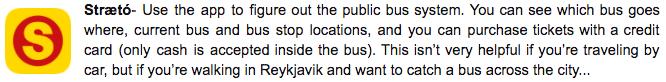 Iceland Apps Straeto Buses