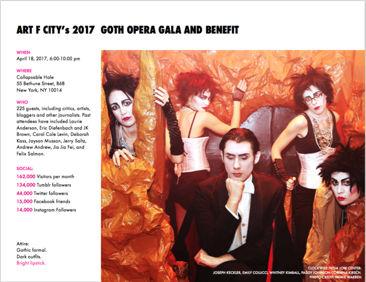 Art F City Goth Opera Sponsorship Deck Paddy Johnson