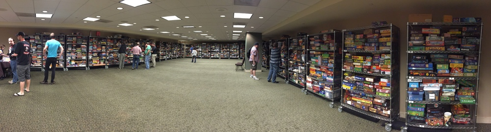 The absurdly huge library of games at BGGCon