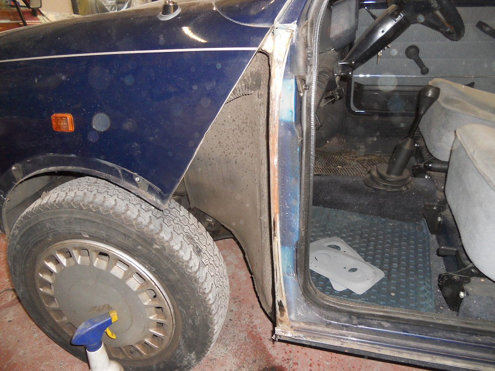 Mini Mayfair Wheel Arch Prior to Conversion