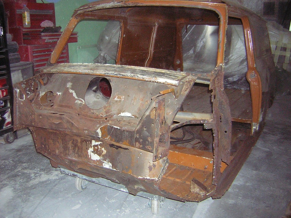 Rusted Shell of Mini Van