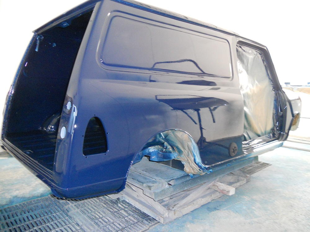 Mini Van During Respray by The Real Mini Company