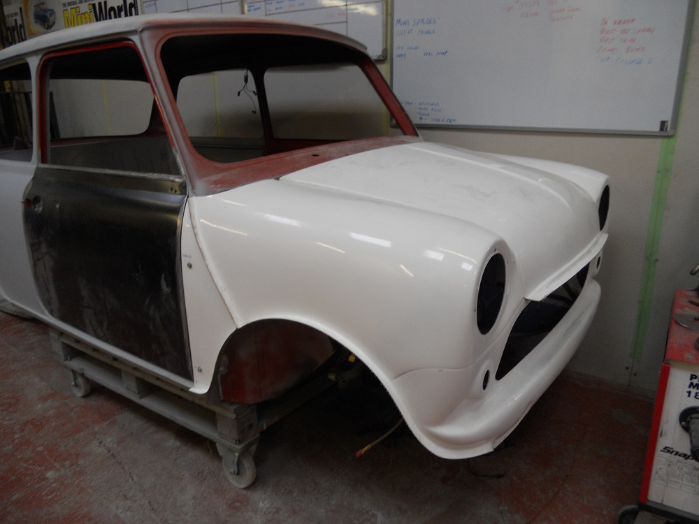 Front of Mini Mayfair Primed for Respray