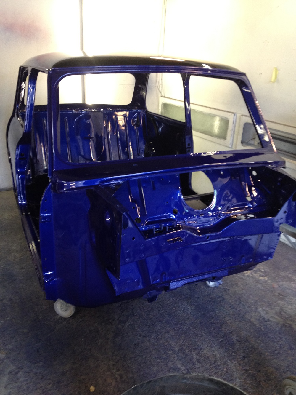 Front of Mini Mayfair After Respray