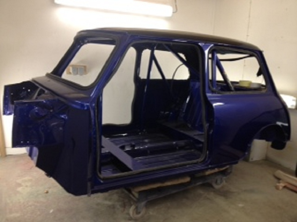 Side view of Mini Mayfair after Respray