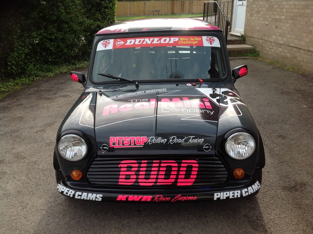 Front of The Real MIni Company Race Car