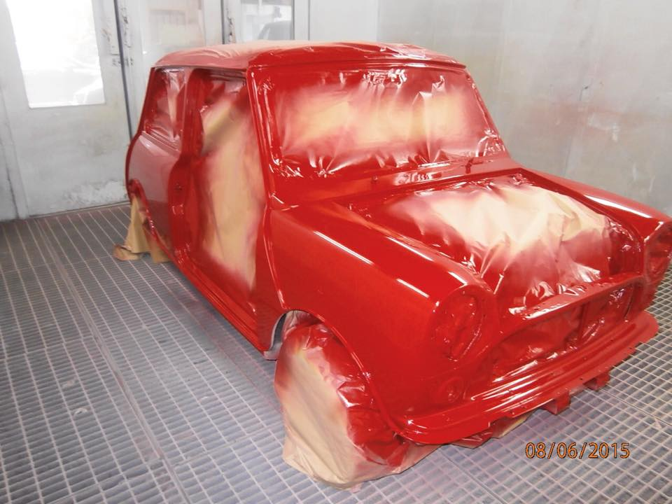 TRMC_Mini_Cooper_Being_Resprayed_in_Red