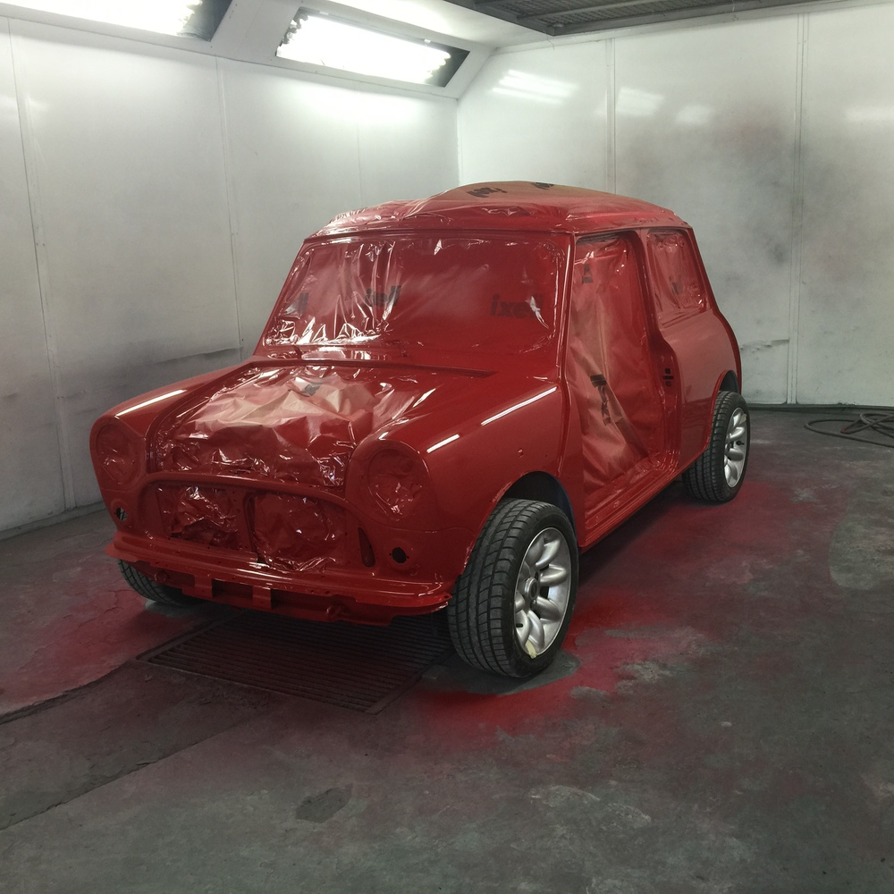 TRMC_Mini_Cooper_Being_Painted_Red