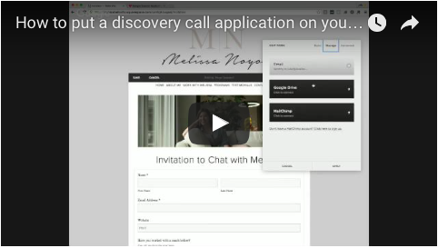 Square Space Tutorial: Discovery Call Application Page