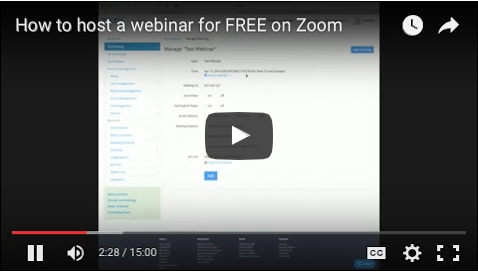 Zoom Tutorial: How To Host A Webinar For Free