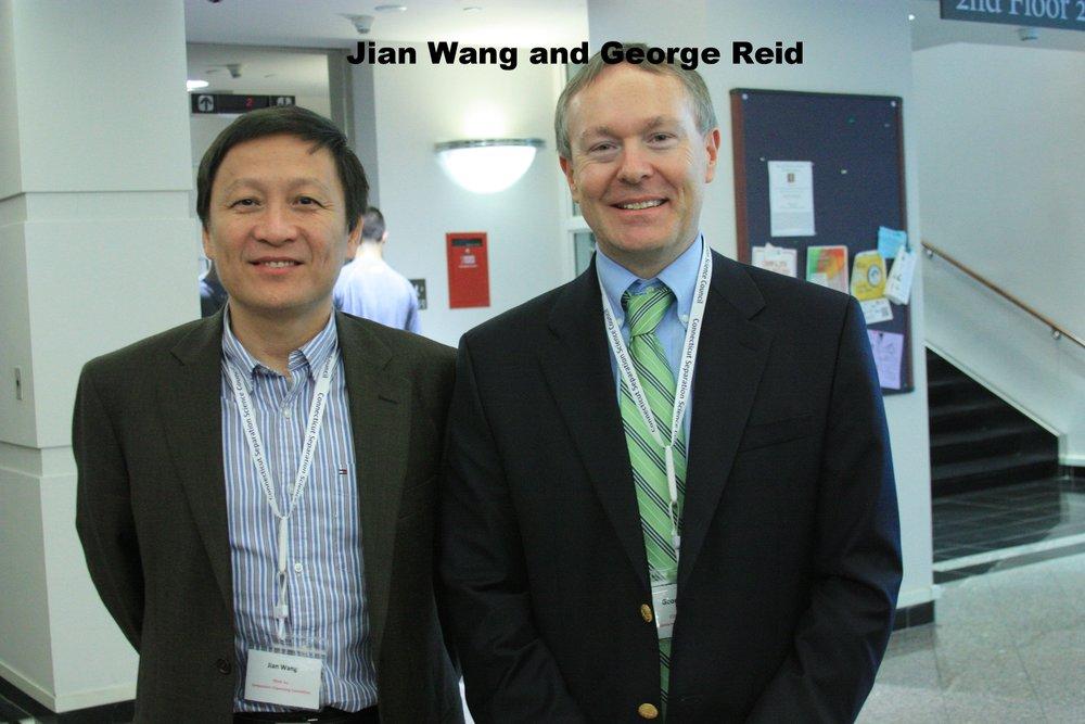 Jian Wang (BOD) and George Reid past president.JPG