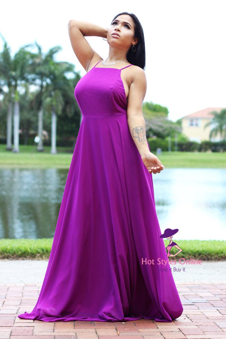 d8d4c7077c9 Ariel Purple Chiffon Crisscross Back Maxi Dress. 89.99. IMG 0487.jpg ...