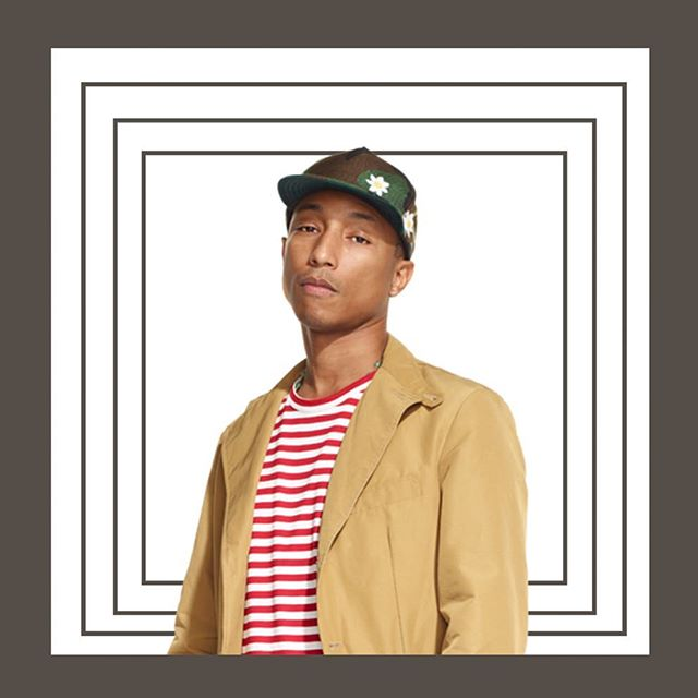 See Pharrell from backstage with the help from @mogulyze