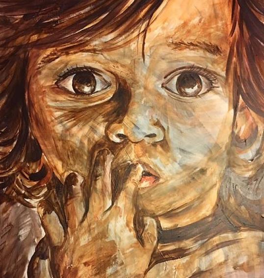 "Charity 20""x30"" Acrylic 2016"