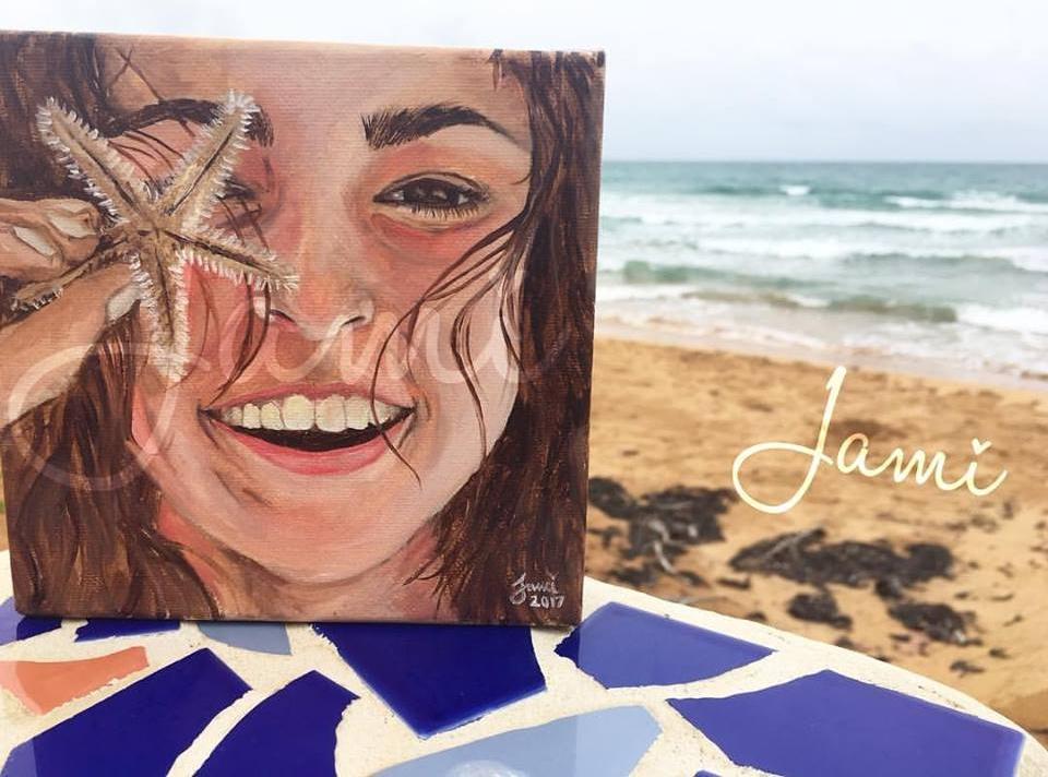 "Starfish 6""x6"" 2017 Oil"