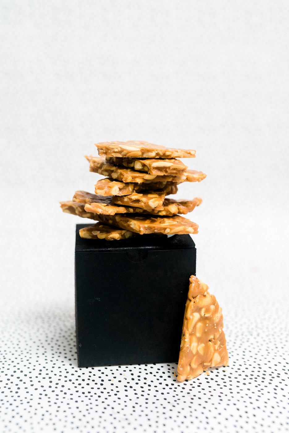 Butter toffee cashew brittle   Haley Richter Photography