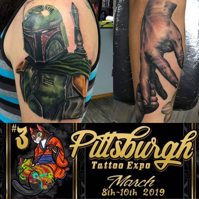 What do you prefer color or black and gray? Currently headed to the @motorcitytattooexpo but you can catch me at @pittsburghtattooexpo next weekend! .. .. #pittsburgh #pittsburghtattooexpo #motorcitytattooexpo #tattoo #inked #blackandgreytattoo #blackandgraytattoo #colortattoo #starwarstattoo #realismtattoo #bnw #tattoosbymattnelson #lightningrevivaltattoocompany #puremichigan #color #art #artoftheday #picoftheday #inkedguys #inkedgirls #friday #weekend #march #expo #tattooed #travel
