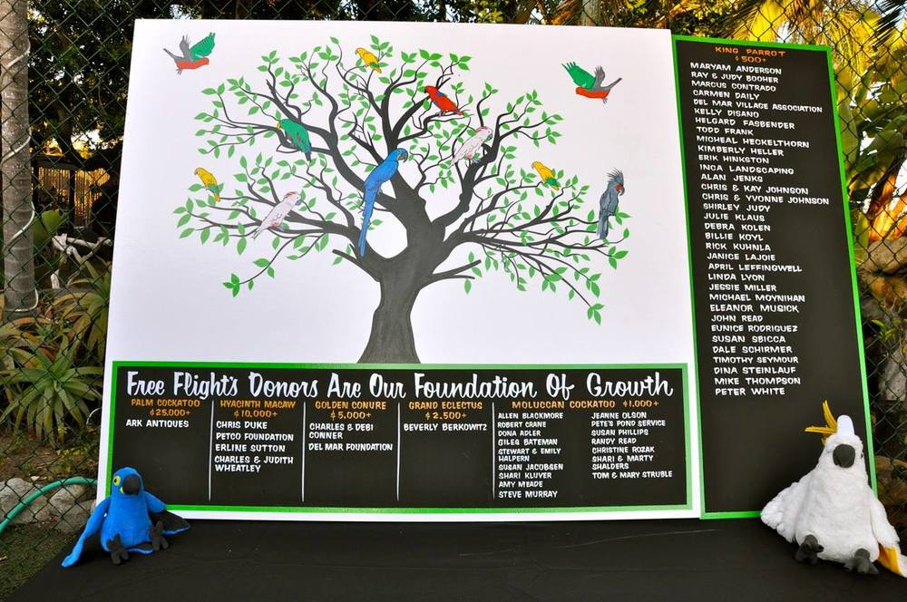 Free Flight Donor Recognition Board