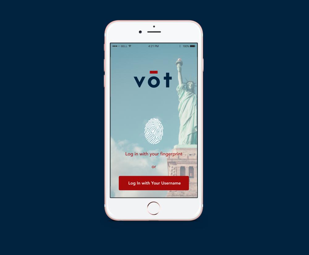 VOT  App Design
