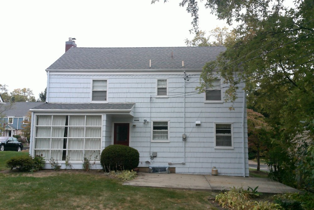 Original south facing rear of the property. Note that the rear yard sloped dramatically from west to east.