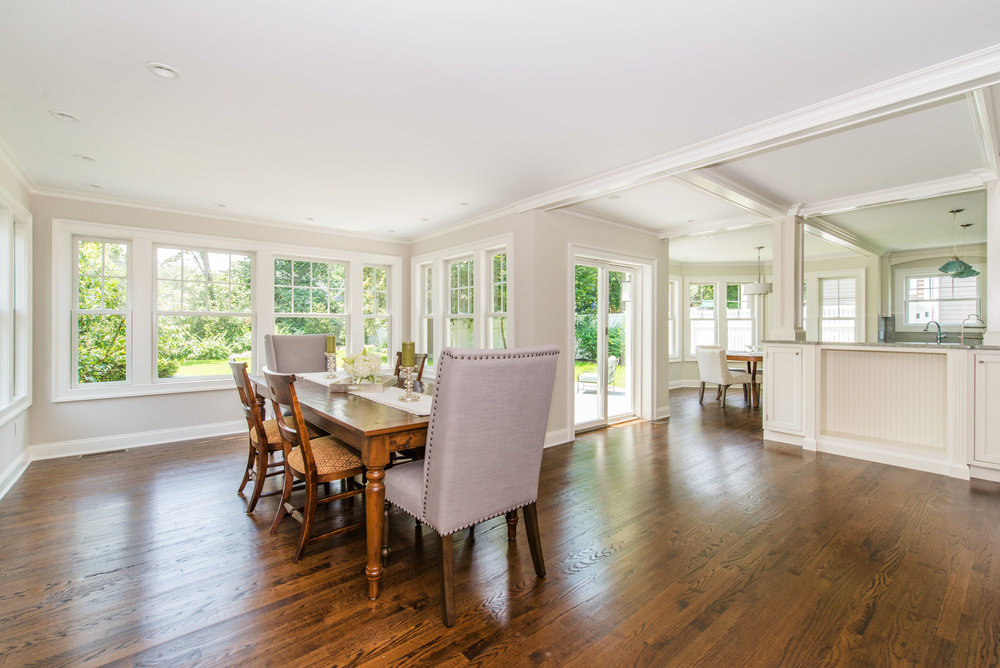 New Dining Room (or Great Room) with view of Breakfast Room and Kitchen