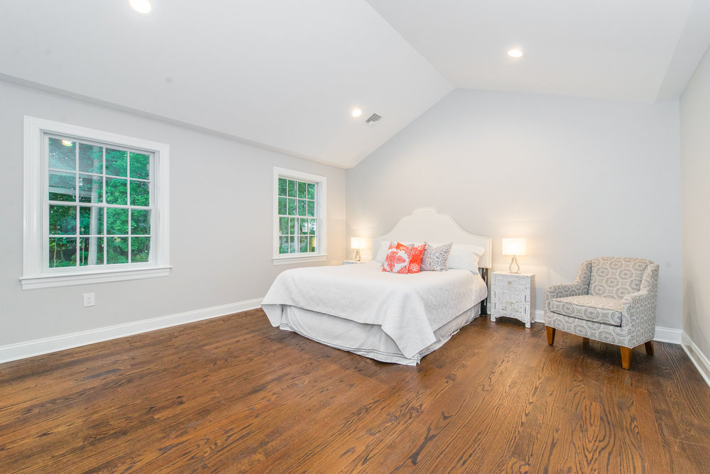 Master Suite features a vaulted ceiling, 2 large closets and Spa Shower