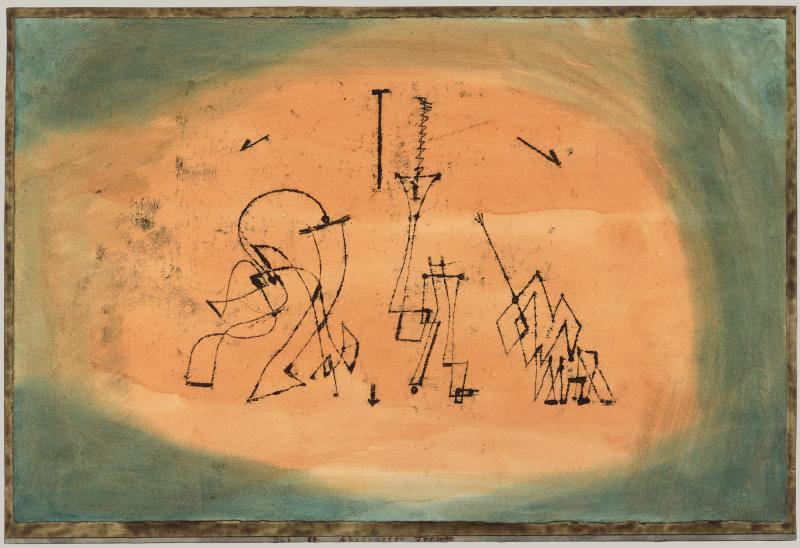 Klee Abstract Trio Painting