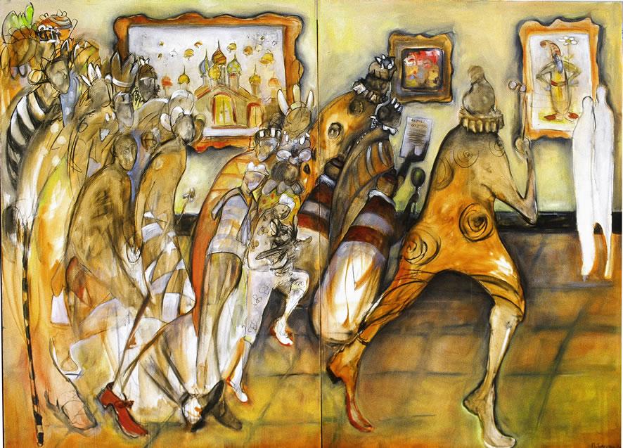 Mussorgsky - Hartmann - Promanade Painting