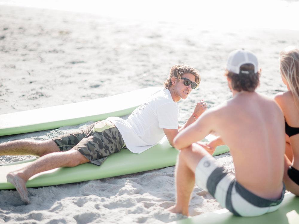 A semi-private surf lesson.