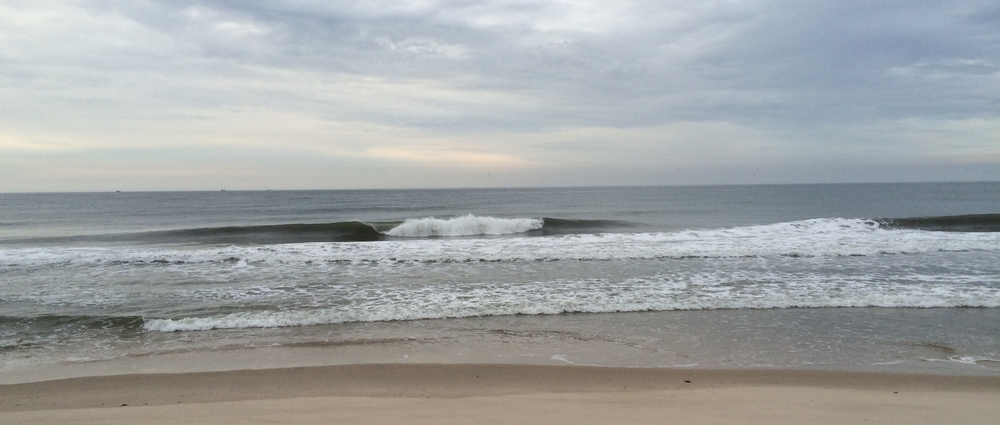 We surfed a super fun beach break somewhere on Long Island. No one out!