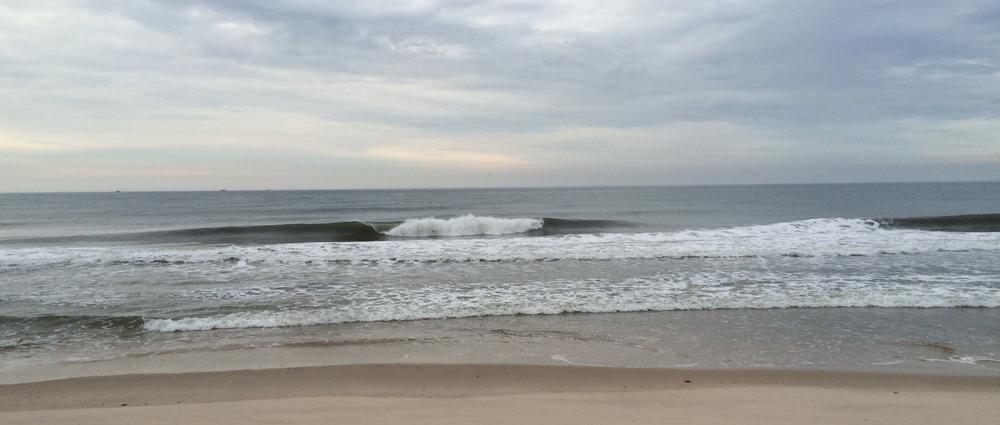 We surfed a super fun beach break somewhere on Long Island. No one out!