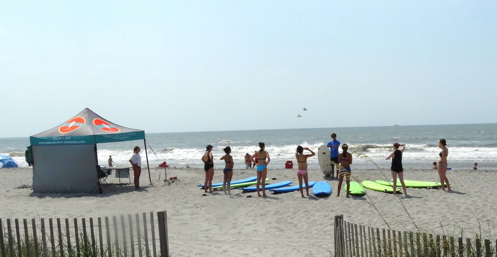 Such a fun group lesson on Folly beach this past weekend!