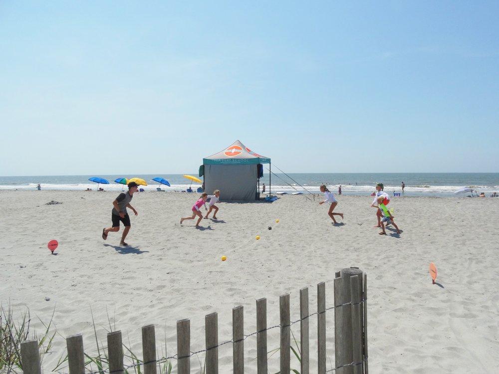 Dodgeball break before hitting the waves again!