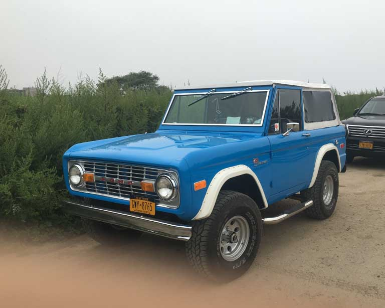Baby Blue Ford Bronco