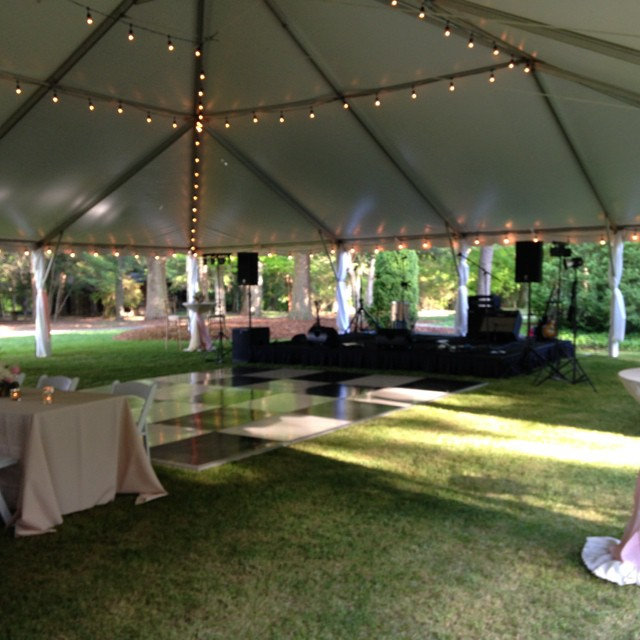 5OS Party under the big top. #demalliewedding