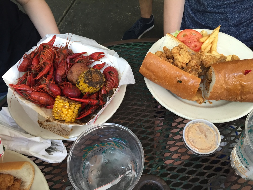 Crawfish and Alligator poboy