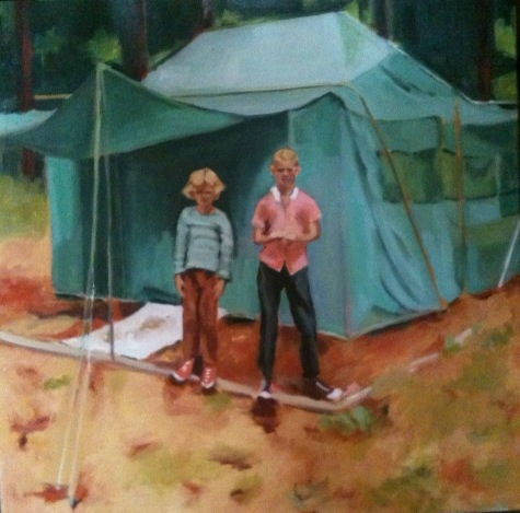 Campers, Oil on Canvas