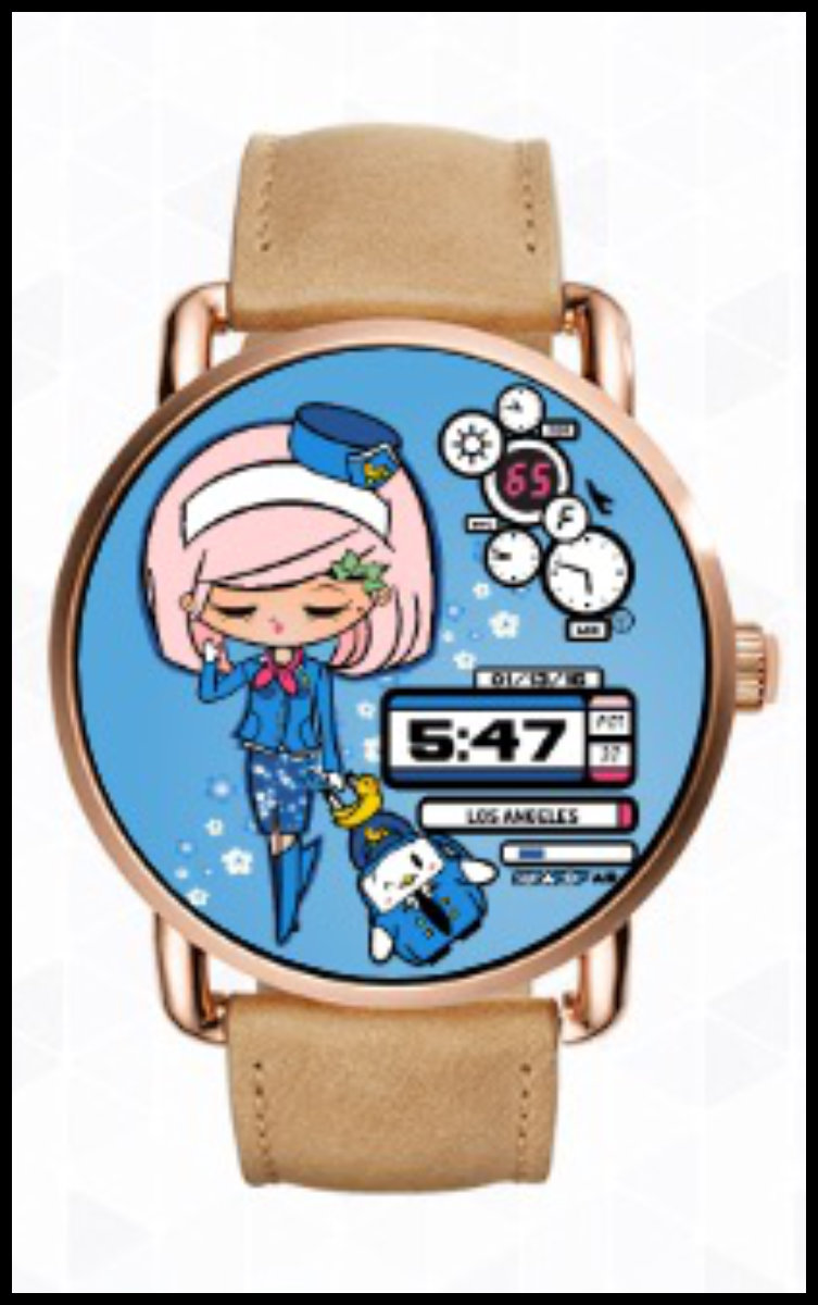 "FLY GIRL ""PAM ANN FLIES HIGH"" Pamela Ann is FLY GIRL – she flies the friendly skies, and like Jane Bond - she never cries (or dies!). A date - you'll never miss, with her on your wrist! (Now with Time-Travel feature)"