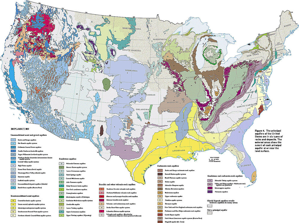 United States aquifer map - click to see larger version